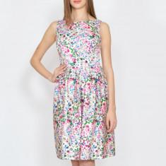 Rochie Dama. Model Pink Roses - Rochie de zi Raspberry, Marime: 32, 34, 36