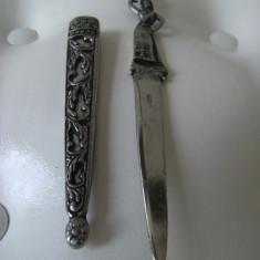 Cutit vechi din alama arginta, marcat Athens, stare perfecta, de colectie/decor. - Metal/Fonta