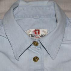 Camasa vintage de dama TRUSSARDI 1881 de blugi marimea L albastra deschis, Albastru, Bumbac