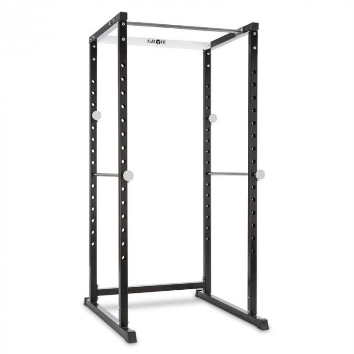 KLARFIT PR1000, suport de antrenament, oțel, suport pentru halteră cu două mâini, stîlpi de securitate foto mare