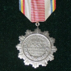 MEDALIA XXV-A ANIVERSARE A ELIBERARII PATRIEI - Medalii Romania