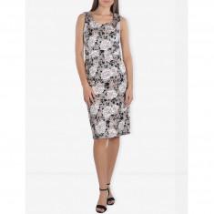 Rochie Dama. Model Beige Floral Midi - Rochie de zi Raspberry, Marime: 34, 36, 38, 40