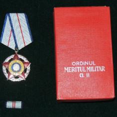 ORDINUL MERITUL MILITAR RSR CL. 2 + CUTIE