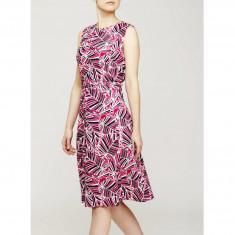 Rochie Dama. Model Linen Printed Skeater - Rochie de zi Raspberry, Marime: 34, 36, 40, 42