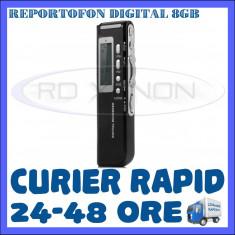 REPORTOFON DIGITAL 8GB GH-518 - DICTAFON, RECORDER - 850 ORE - GARANTIE 12 LUNI