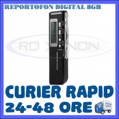 REPORTOFON DIGITAL 8GB GH-518 - DICTAFON, RECORDER - 850 ORE - GARANTIE 12 LUNI ZDM, Universal