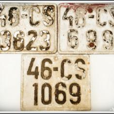 LOT 3 NUMERE DE MOTOCICLETĂ VECHI DIN PERIOADA COMUNISTĂ, TURNATE DIN ALUMINIU! - Metal/Fonta, Ornamentale