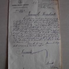 DOCUMENT SEMNAT OLOGRAF DE PRIMARUL BUCURESTIULUI--1898 - Brevet
