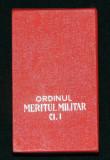 CUTIE PENTRU ORDINUL MERITUL MILITAR RSR CL. 1