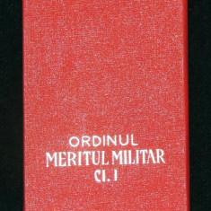 CUTIE PENTRU ORDINUL MERITUL MILITAR RSR CL. 1 - Medalii Romania