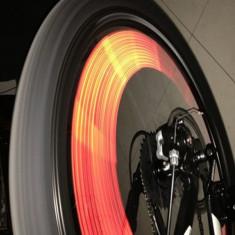 Spite reflectorizante rosii, aplice spite de bicicleta, tub reflectorizant spite - Accesoriu Bicicleta