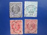 TIMBRE ROMANIA 1885=1888 LOT STAMPILAT