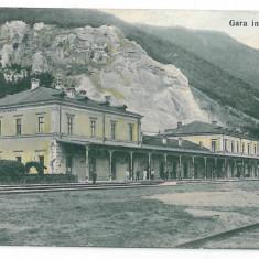 2567 - Caras-Severin, CERCIOROVA, Railway Station - old postcard - used - Carte Postala Banat 1904-1918, Circulata, Printata