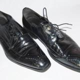 Pantofi barbatesti din piele, marimea 44, Culoare: Negru, Piele naturala