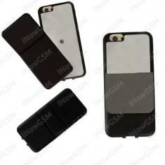 Husa protectie spate cu oglinda - sound effect TotuDesign Apple iPhone 6 6S - Husa Telefon, Negru