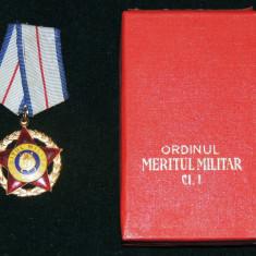 ORDINUL MERITUL MILITAR RSR CL. 1 + CUTIE