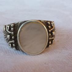 Inel argint Vechi cu centru Sidef Vintage executat manual Splendid de Efect