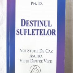 DESTINUL SUFLETELOR, Michael Newton Ph. D., 2006. Carte noua - Carte paranormal