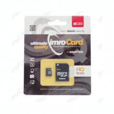 Card memorie micro IMRO SDHC Class 10 8GB Adaptor, Micro SD