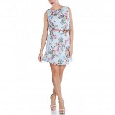 Rochie Dama. Model Grey Flower Print