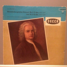 BACH - BRANDENBURG CONCERT 2 & 4 cu K.RICHTER(1968/DECCA /RFG) - Vinil/Impecabil - Muzica Clasica decca classics
