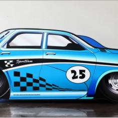 Pat copii masina Dacia - Pat tematic pentru copii Altele, Altele, Alte dimensiuni, Albastru