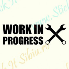 Work in progress_Tuning Auto_Cod: CST-485_Dim: 15 cm. x 4.8 cm. - Stickere tuning