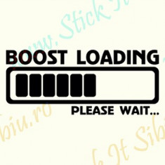 Boost Loading_Tuning Auto_Cod: CST-495_Dim: 10 cm. x 4.2 cm. - Stickere tuning