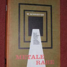W.Schreiter - Metale rare - Carte Chimie