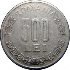 ROMANIA, 500 LEI 1999 (1) - Moneda Romania, Aluminiu