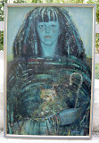 Gabriel Gheorghiu - Portret Adelina tablou ulei pe panza inramat 62x92cm, Portrete, Realism