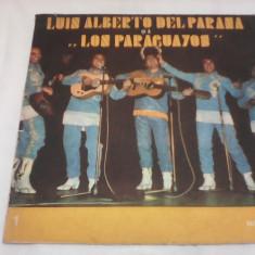 DISC VINIL LUIS ALBERTO DEL PARANA SI FORMATIA LOS PARAGUAYOS EDE094 - Muzica Latino