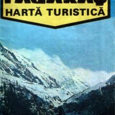 Munţii Făgăraş - harta turistică OJT