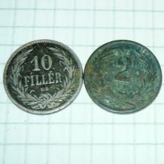 Lot 2 monede Ungaria 1894-1899 vechi - 2+1 gratis - RBK17126, Europa