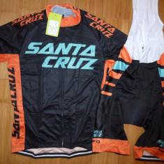 Echipament ciclism Santa Cruz 2018 set NOU tricou si pantaloni cu bretele, Tricouri