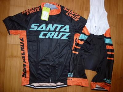 Echipament ciclism Santa Cruz 2018 set NOU tricou si pantaloni cu bretele foto