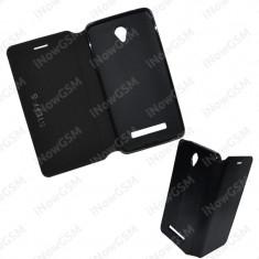 Husa telefon flipbook tip carte telefon Allview E4 Lite, Negru