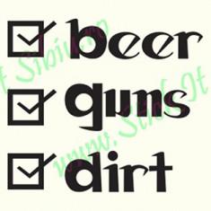 Beer Guns Dirt_Tuning Auto_Cod: CST-493_Dim: 10 cm. x 8.9 cm. - Stickere tuning