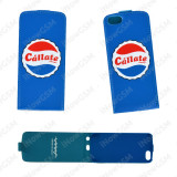Husa toc slim Callate la Boca Pepsi Apple iPhone SE, iPhone 5/5S/SE, Albastru, Piele Ecologica