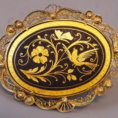 Brosa Toledo din aur si argint - Brosa aur
