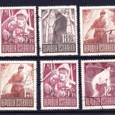 Timbre AUSTRIA 1947 = PRIZONIERI DE RAZBOI, Stampilat