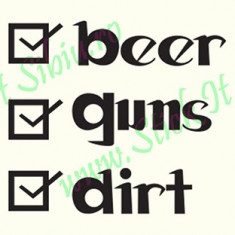 Beer Guns Dirt_Tuning Auto_Cod: CST-493_Dim: 10 cm. x 8.9 cm. - Stickere tuning