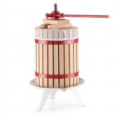 ONEconcept Berrymore XXL Press Vin Storcator Fructe 18 l din lemn de oțel cu clichet mecanic - Zdrobitor struguri