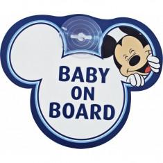Semn de avertizare Baby on Board Mickey Disney Eurasia - Masuta/scaun copii