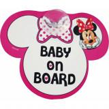 Semn de avertizare Baby on Board Minnie Disney Eurasia - Masuta/scaun copii