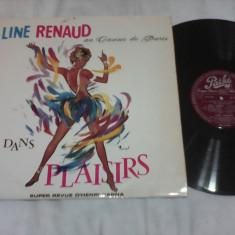 DISC VINIL LINE RENAUD AU CASINO DE PARIS DANS PLAISIRS DE COLECTIE RAR!!!1959 - Muzica Jazz