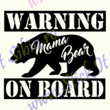 Warning-Mama Bear-On Board_Tuning Auto_Cod: CST-492_Dim: 15 cm. x 13 cm.