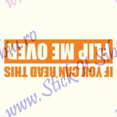 Flip me over_Tuning Auto_Cod: CST-497_Dim: 12 cm. x 4.2 cm. - Stickere tuning