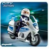 Motocicleta politiei Playmobil