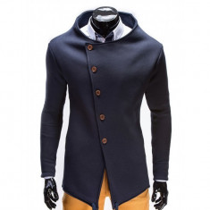 Hanorac barbati stil palton b310 bleumarin, Marime: S, M, L, XL, Bumbac